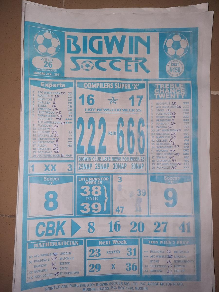 week 26 bigwin soccer 2021 page 1