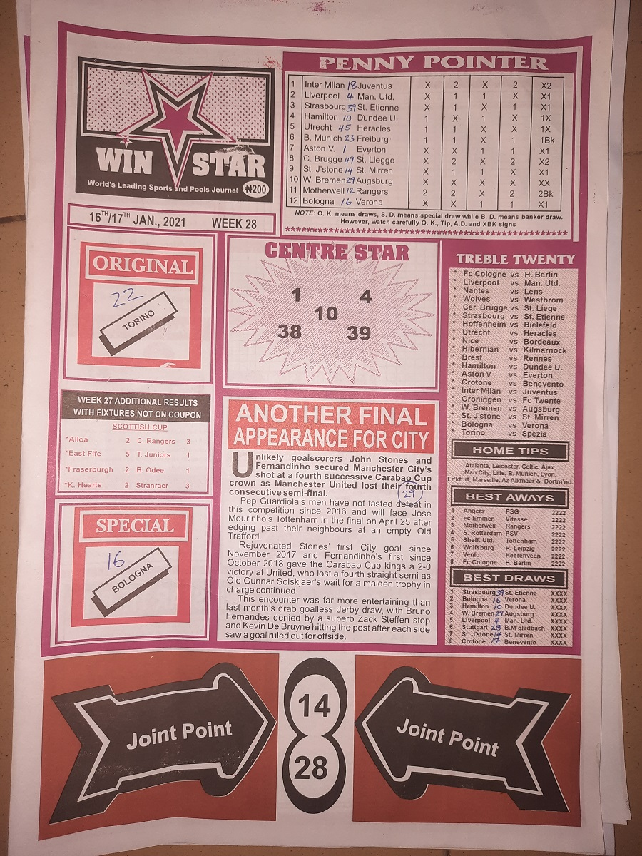 week 28 winstar 2021 page 1