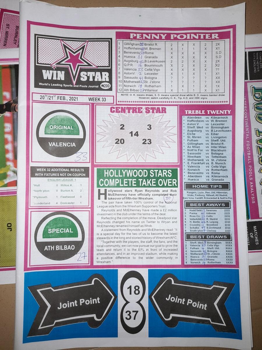 week 33 winstar 2021 page 1