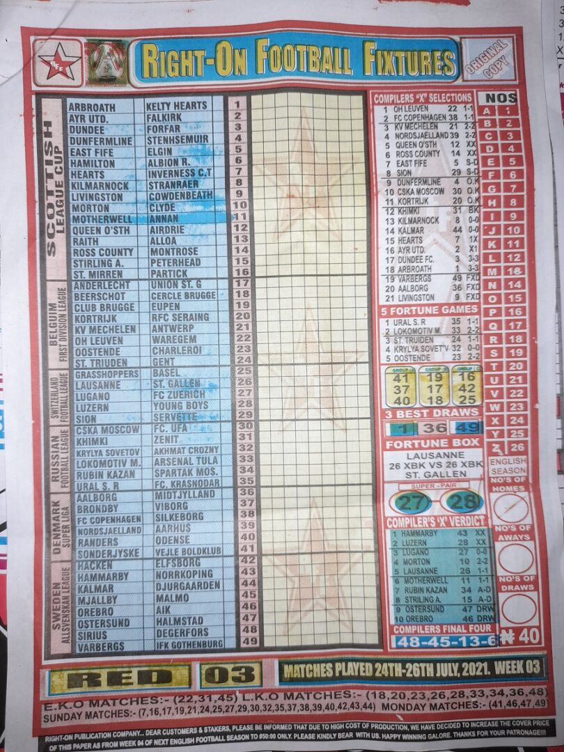 week 3 right on fixtures 2021 front page