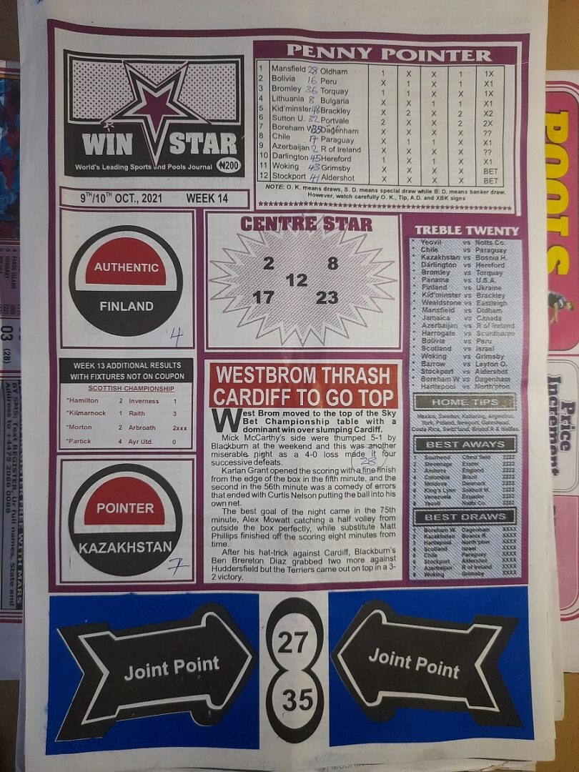 week 14 winstar 2021 page 1